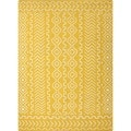 Flat Weave Tribal Gold/ Yellow Wool Rug (8' x 10')