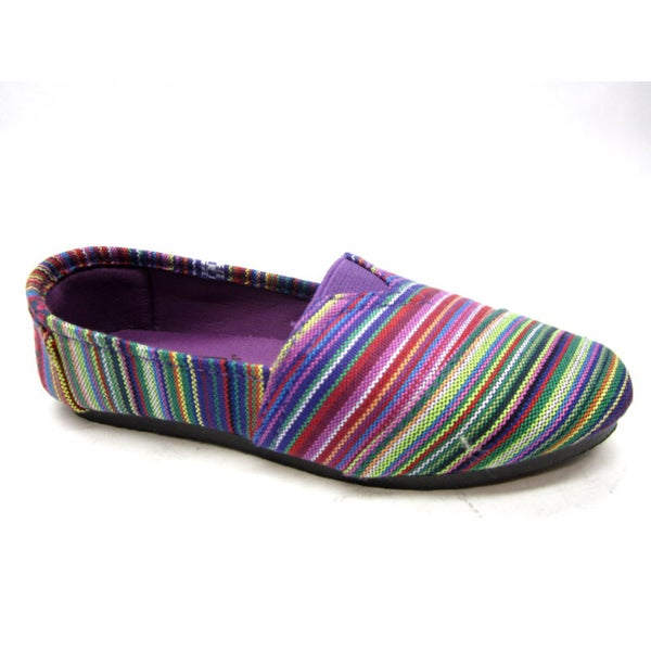 Blue Women's 'Timmy' Pattern Purple Flats
