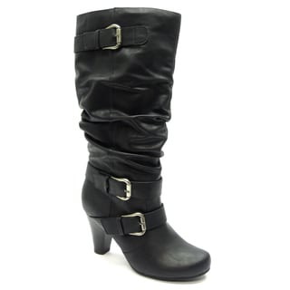 Blue Women's 'Davida' Black Mid-calf Boots