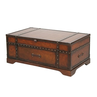 Gracie Leather Cocktail Table