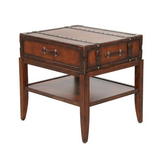 Gracie Leather Accent End Table