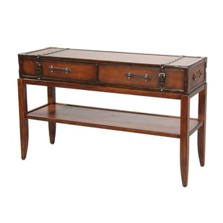 Gracie Leather Accent Sofa Table