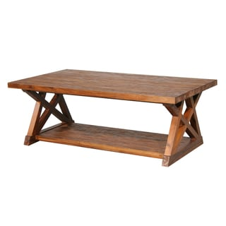 Farmhouse Cross-braced Cocktail Table