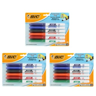 Bic Great Erase Grip Low Odor Dry Erase Markers (Pack of 18)