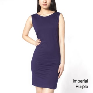 American Apparel Women's Jersey Scoop Back Sheath Dress