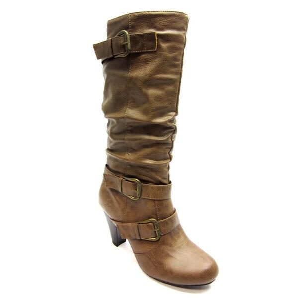 Blue Women's 'Davida' Tan Mid-calf Boots