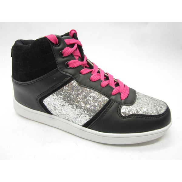 Blue Women's 'Skaty' Glimmer Silver/ Black Sneakers