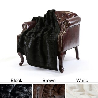 Mink Faux Fur 54 x 36 Lap Throw