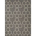 Handmade Geometric Flat-weave Gray Wool Runner (2'6 x 8')
