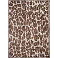 Hand-Tufted Modern White Animal-Print Wool-and-Silk Rug (5' x 8')