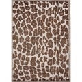 Hand-tufted Modern Animal Print Wool/ Silk Rug (3'6 x 5'6)