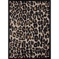 Hand-tufted Modern Animal Print Wool/ Silk Rug (2' x 3')