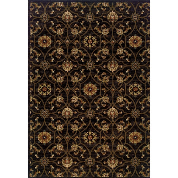 Indoor Black/ Brown Area Rug
