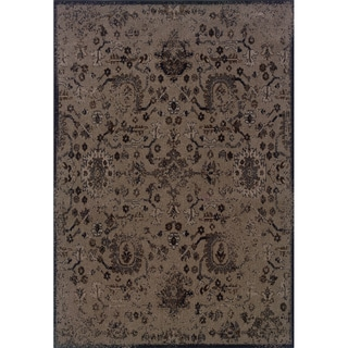 Indoor Beige/ Black Area Rug