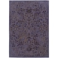Indoor Purple/ Beige Area Rug