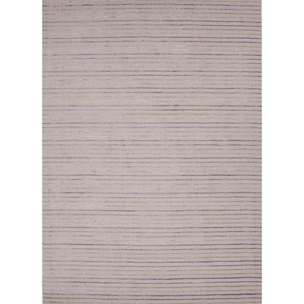 Hand-loomed Transitional Multi Color Wool/ Silk Rug (3'6 x 5'6)