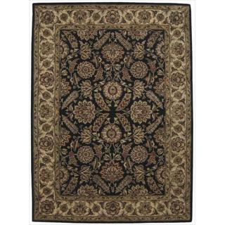 Nourison Hand-tufted Jaipur Black Wool Rug