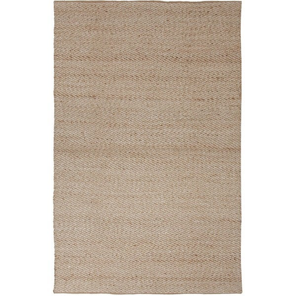 Hand-woven Beige Natural Jute/ Rayon Rug (8' x 10')