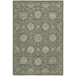 Nourison Hand-tufted Floral Regal Cobble Stone Wool Rug
