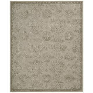 Nourison Hand-tufted Floral Regal Stone Wool Rug