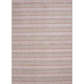 Hand-loomed Transitional Multi Color Wool/ Silk Rug (5' x 8')