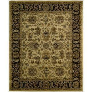Nourison Hand-tufted Jaipur Light Gold Wool Rug
