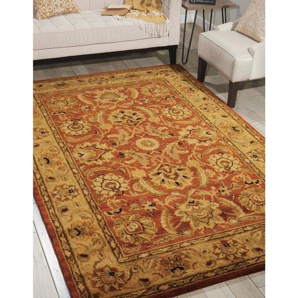 Nourison Hand-tufted Jaipur Rust Wool Rug