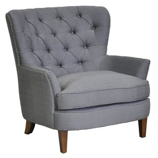 Grey Pia Nailhead Chair
