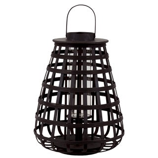 Urban Trends Collection 20-inch Large Black Bamboo Lantern