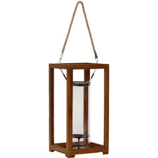Urban Trends Collection Medium Metal/Wood Lantern