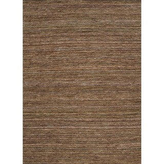 Handwoven Flat-Pile Natural-Striped Hemp/Jute Rug (3'6 x 5'6)