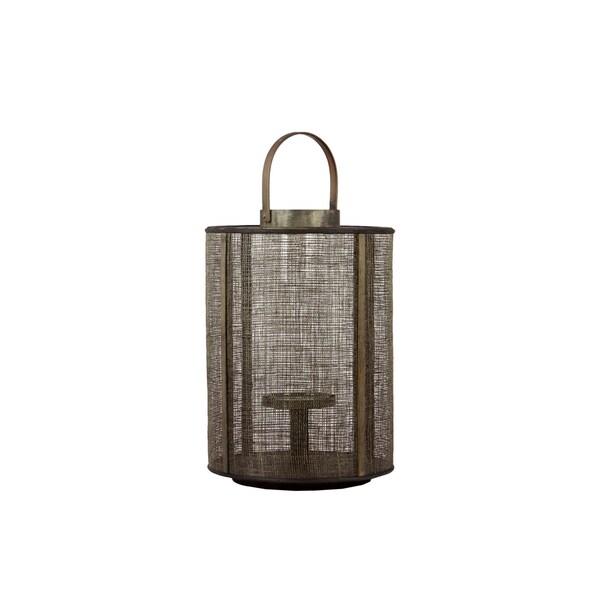 Urban Trends Collection 17-Inch Decorative Brown Wooden Lantern