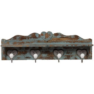 Urban Trends Collection 24-inch Distressed Blue Wooden Wall Hook