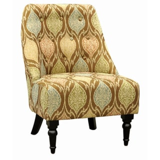 Amelia Mosaic Ikat Linen Fabric Club Chair
