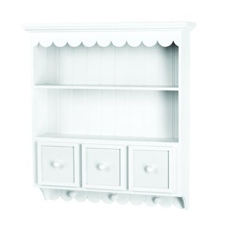 Doodlebug White Three-drawer Collectible Cupboard