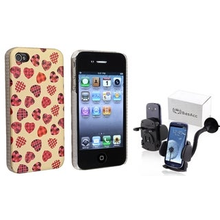 BasAcc Heart Case/ Windshield Mount for Apple iPhone 4/ 4S