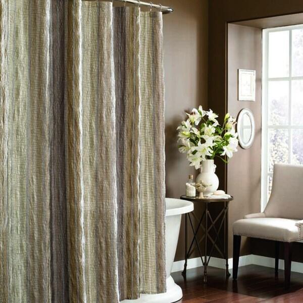 Manor Hill Sierra Khaki Fabric Shower Curtain