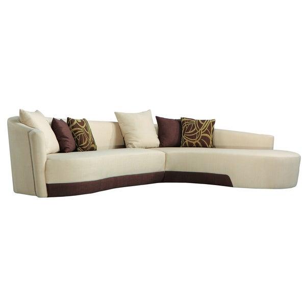 Modern Two-tone Fabric Sectional Sofa