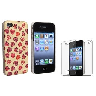 BasAcc Creamy/ Light Pink Case/ LCD Protector for Apple iPhone 4/ 4S