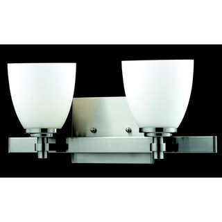 Dorsett 2-light Brushed Nickel Wall Sconce