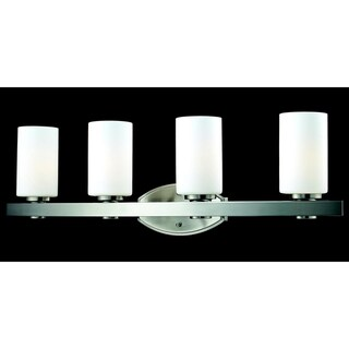 Adria 4-light Brushed Nickel Wall Vanity