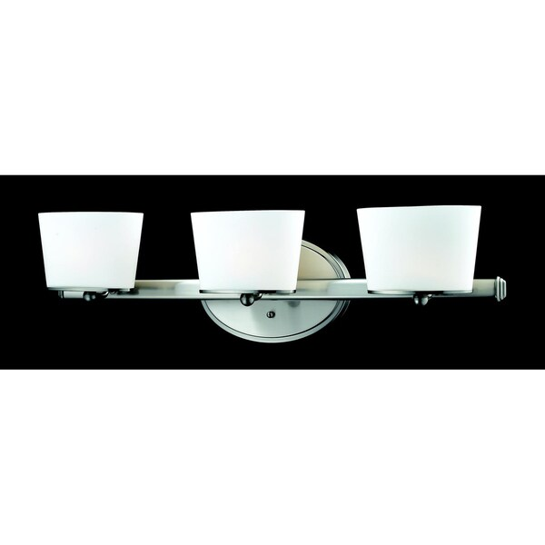 Chimera 3-light Brushed Nickel Wall Vanity