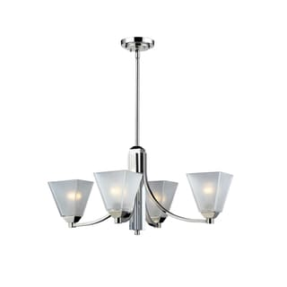 Luxe 4-light Chrome Chandelier