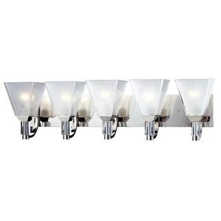 Luxe 5-light Chrome Wall Vanity