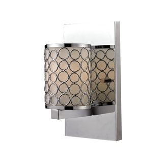 Synergy 1-light Polished Nickel Wall Sconce
