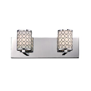 Synergy 2-light Polished Nickel Wall Vanity