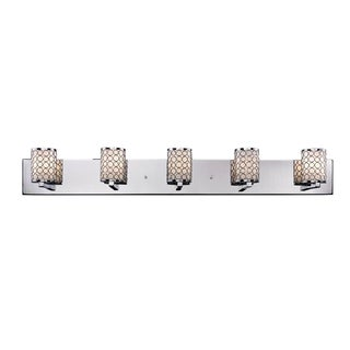 Synergy 5-light Polished Nickel Wall Vanity