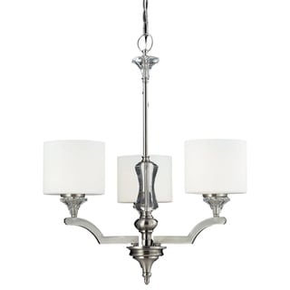 Avignon 3-light Satin Nickel Chandelier