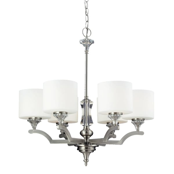 Avignon 6-light Satin Nickel Chandelier