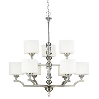 Avignon 9-light Satin Nickel Chandelier